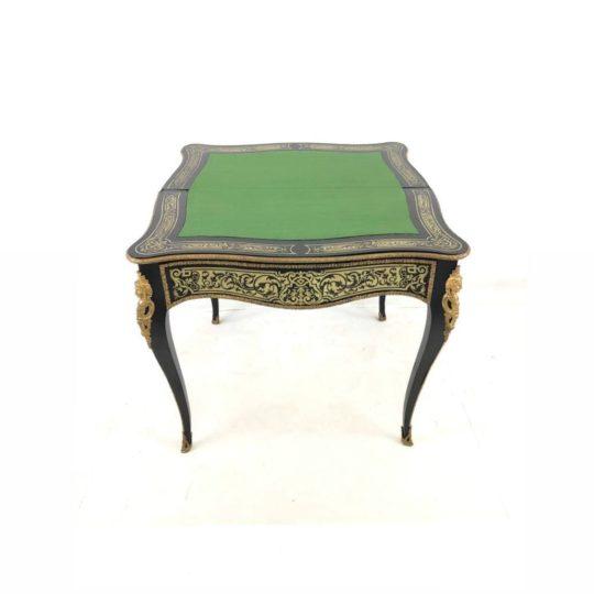 Антикварный игровой столик-консоль в стиле Буль