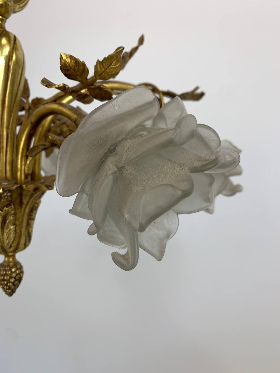 Антикварная люстра на 6 огней в стиле Louis XVI