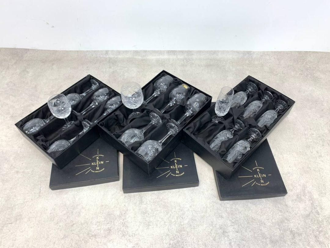 Винтажные хрустальные фужеры от Valéry Klein (Baccarat)