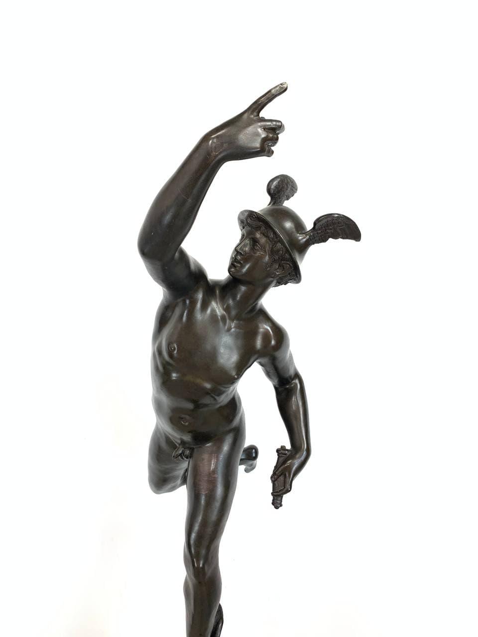 Антикварная бронзовая скульптура «Меркурий»