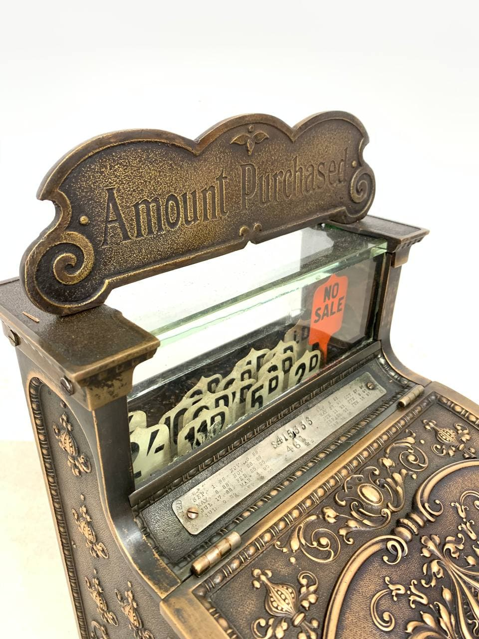 Антикварный кассовый аппарат марки National