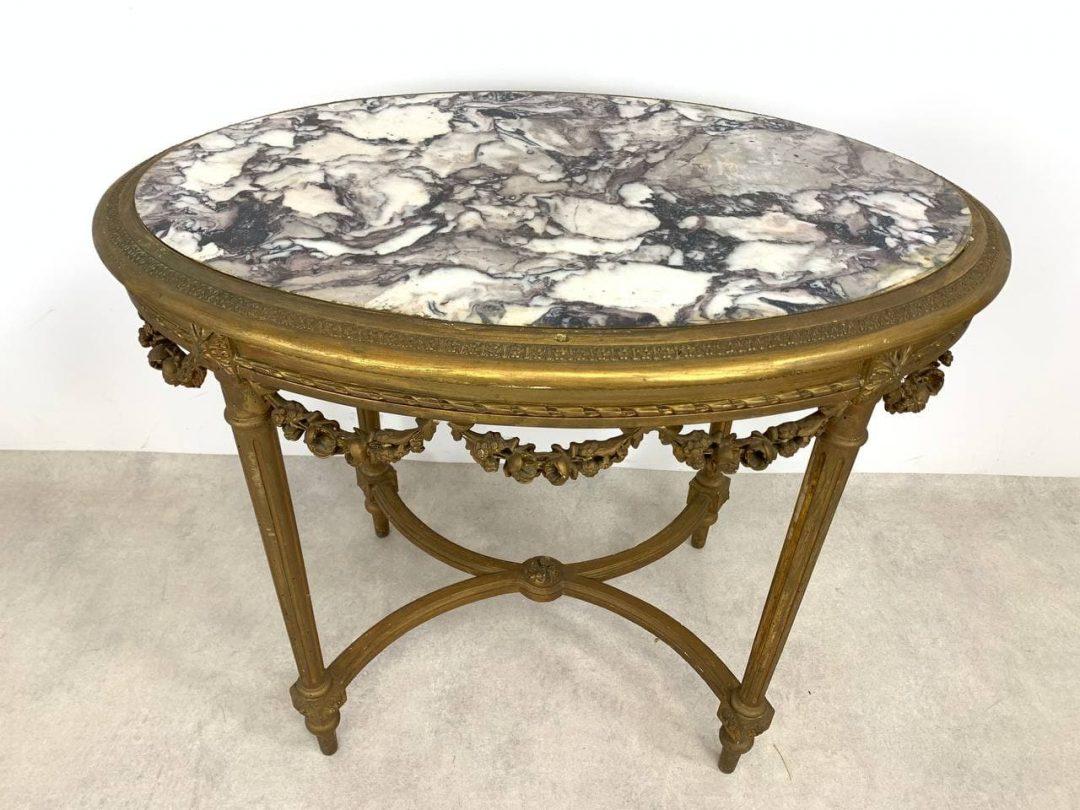 Антикварный овальный столик