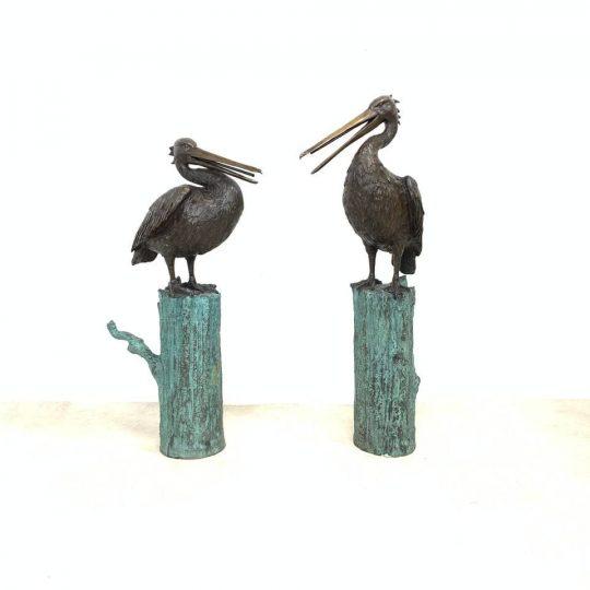 Современные садовые фигуры-фонтаны из бронзы
