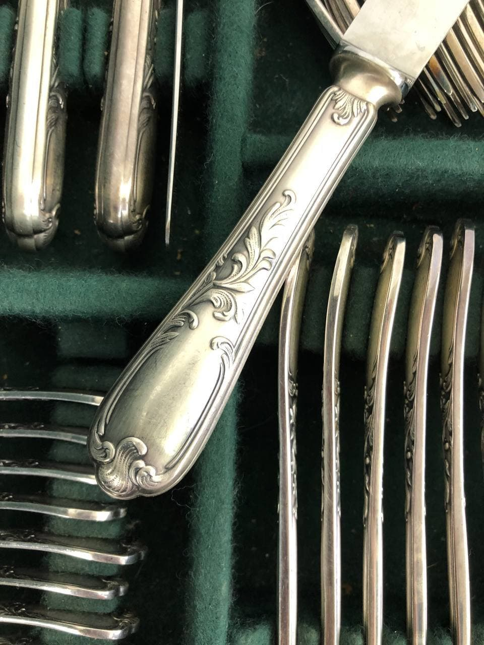 Винтажный столовый сервиз марки Ercuis, в стиле Людовика XV