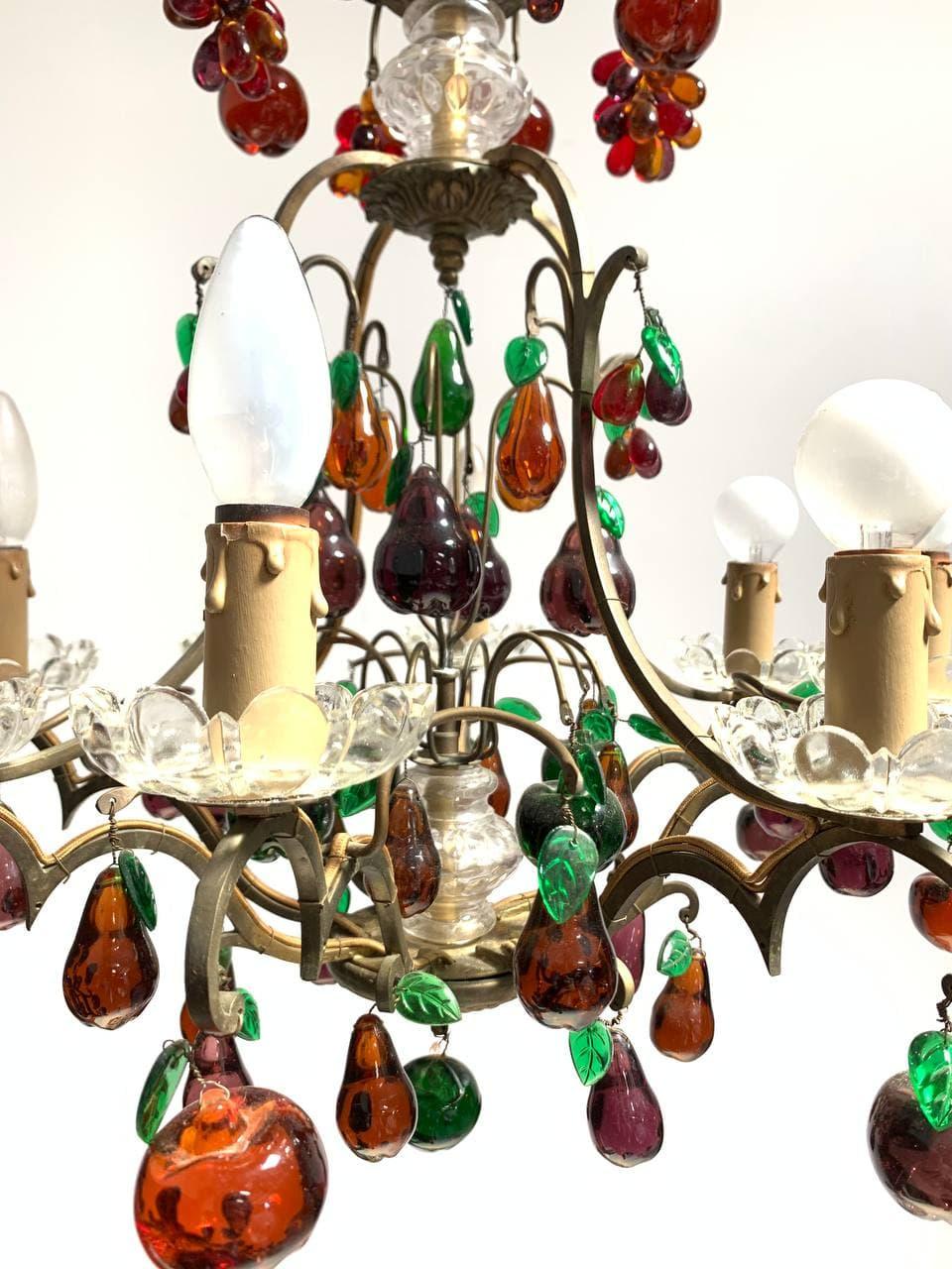 Винтажная подвесная люстра Murano