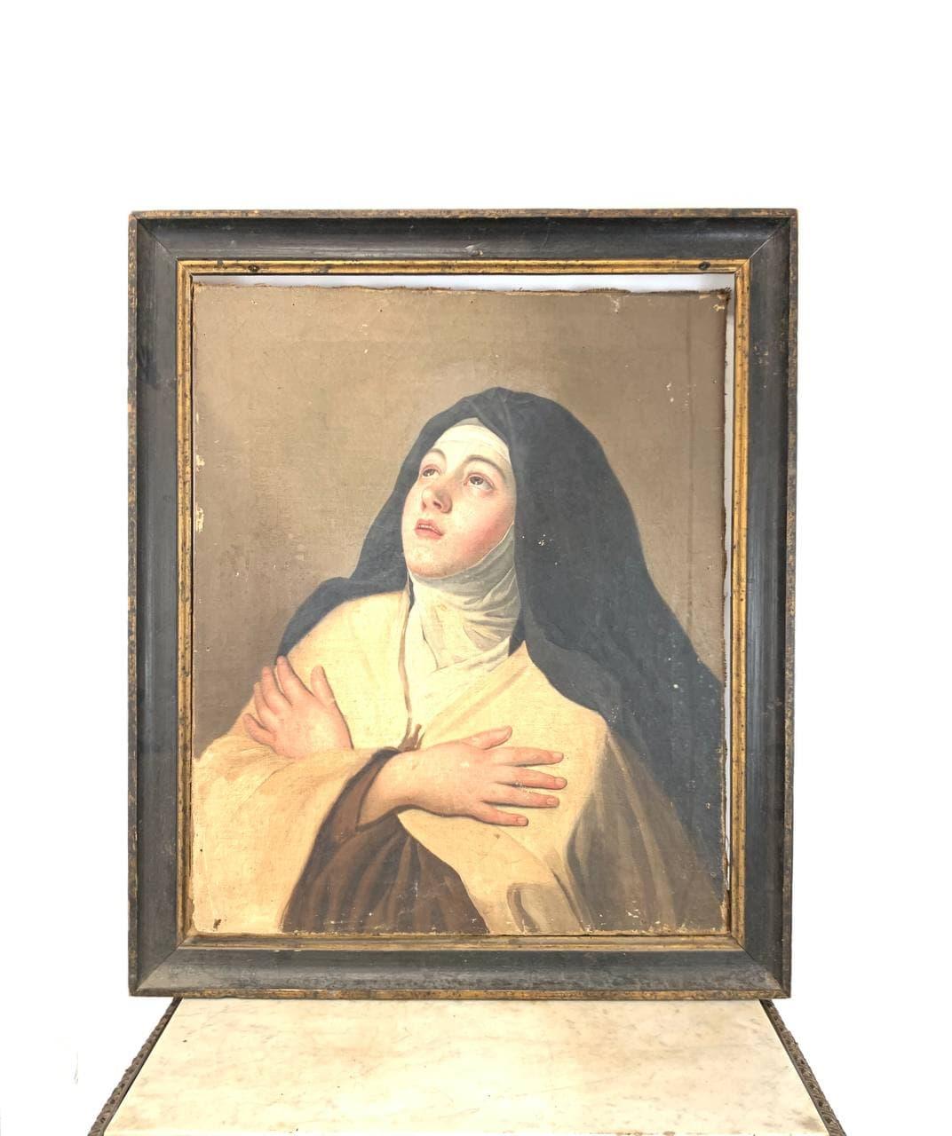 Антикварная живопись «Молодая монахиня»