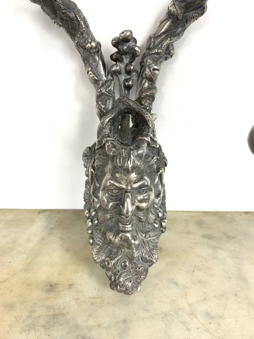 Антикварные бра из посеребрённой бронзы