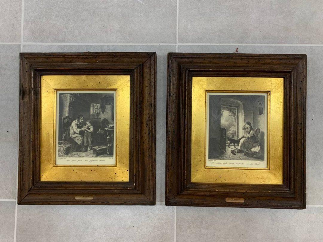 Антикварная пара гравюр начала ХIХ века
