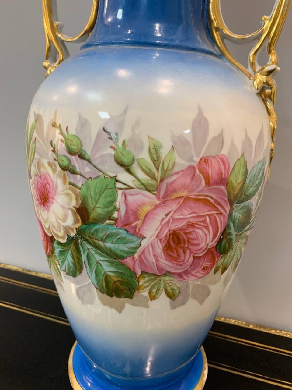 Антикварная ваза мануфактуры Vieux Paris