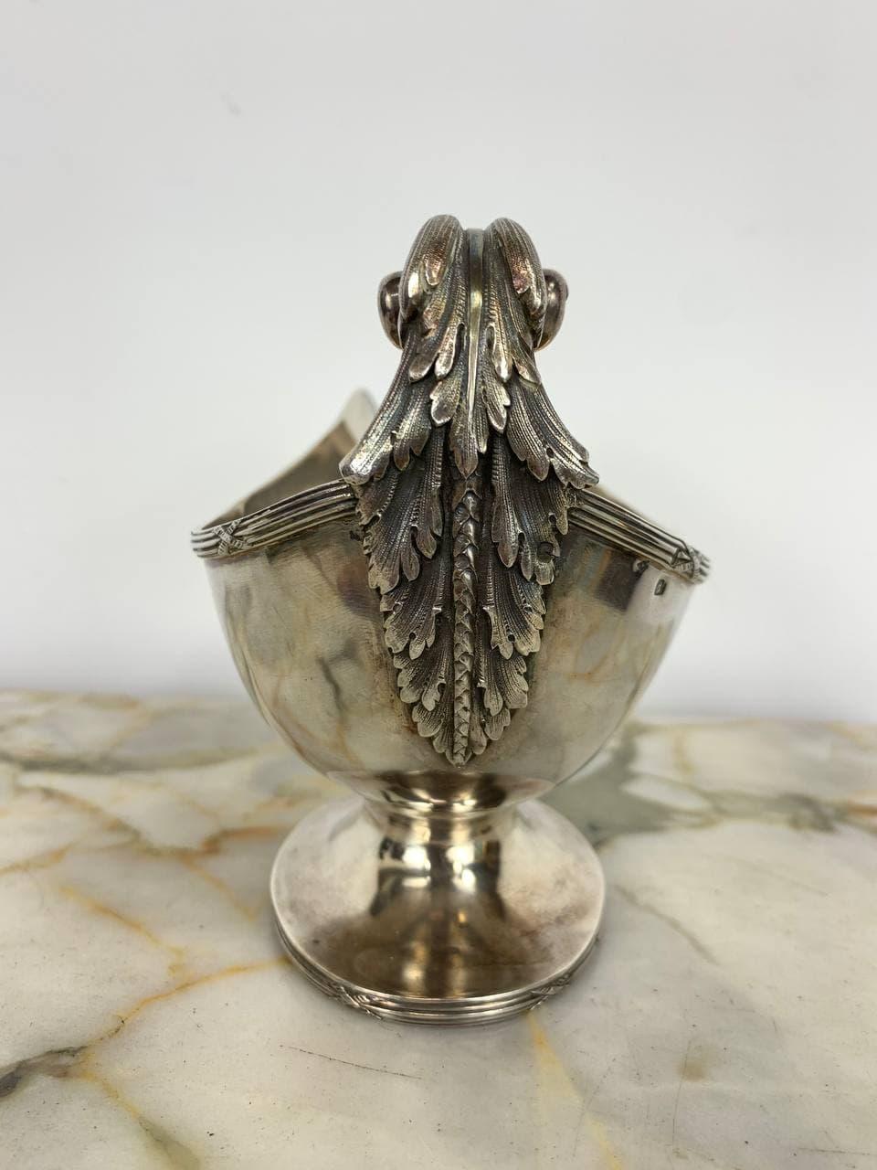 Антикварный серебряный соусник