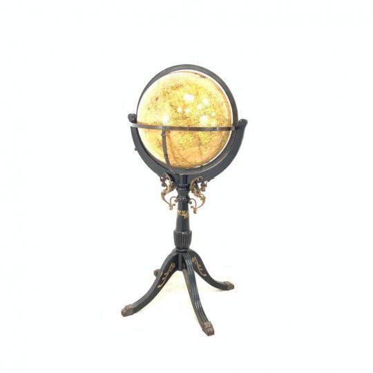 Антикварный напольный глобус