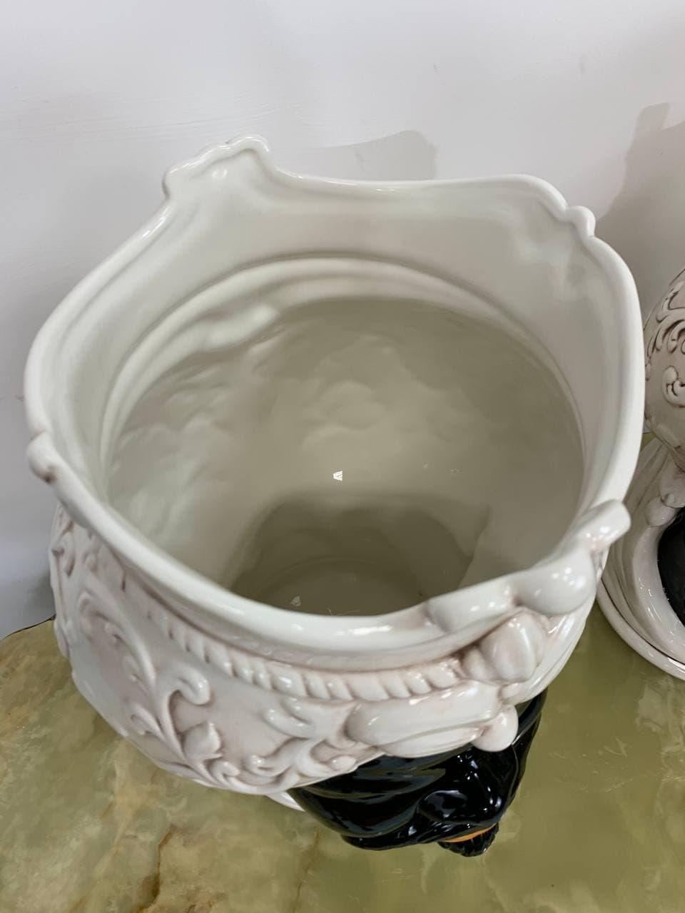 Современные керамические эмалированные кашпо