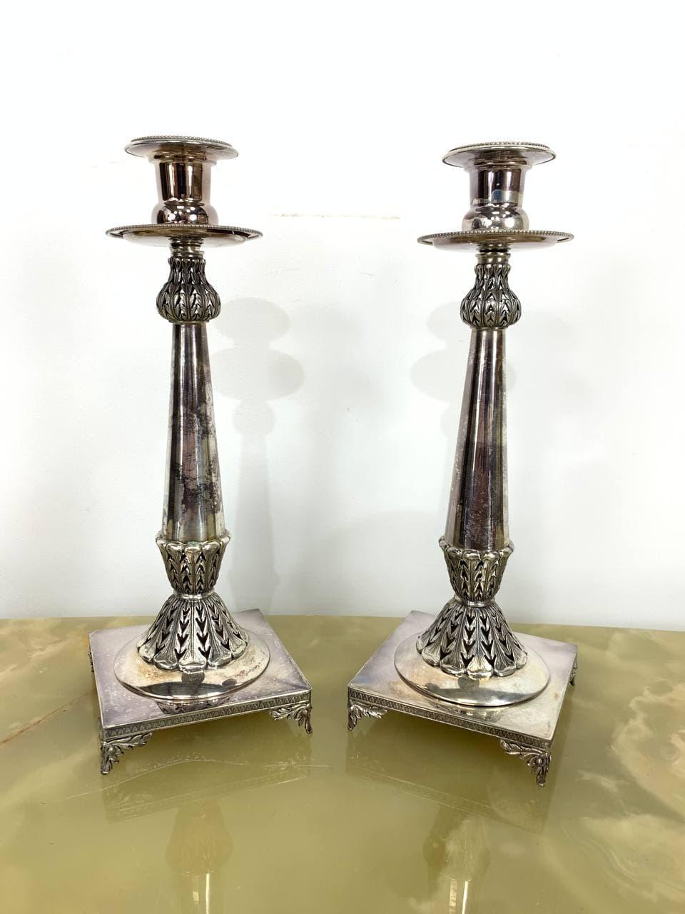 Винтажные подсвечники из серебра