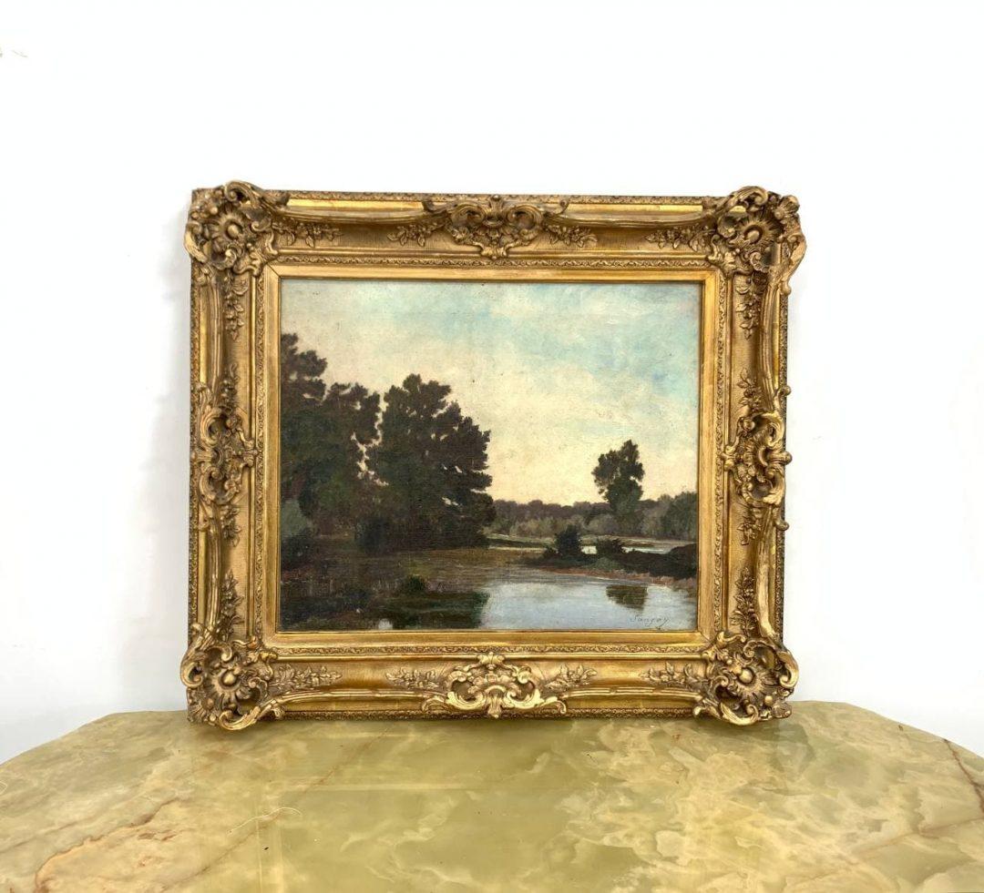 Антикварная картина «Пейзаж»