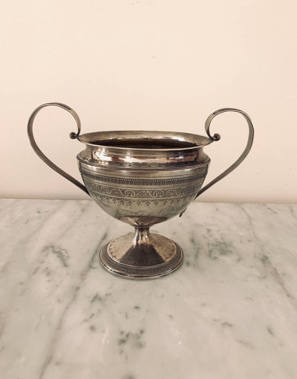 Антикварная ваза из серебра