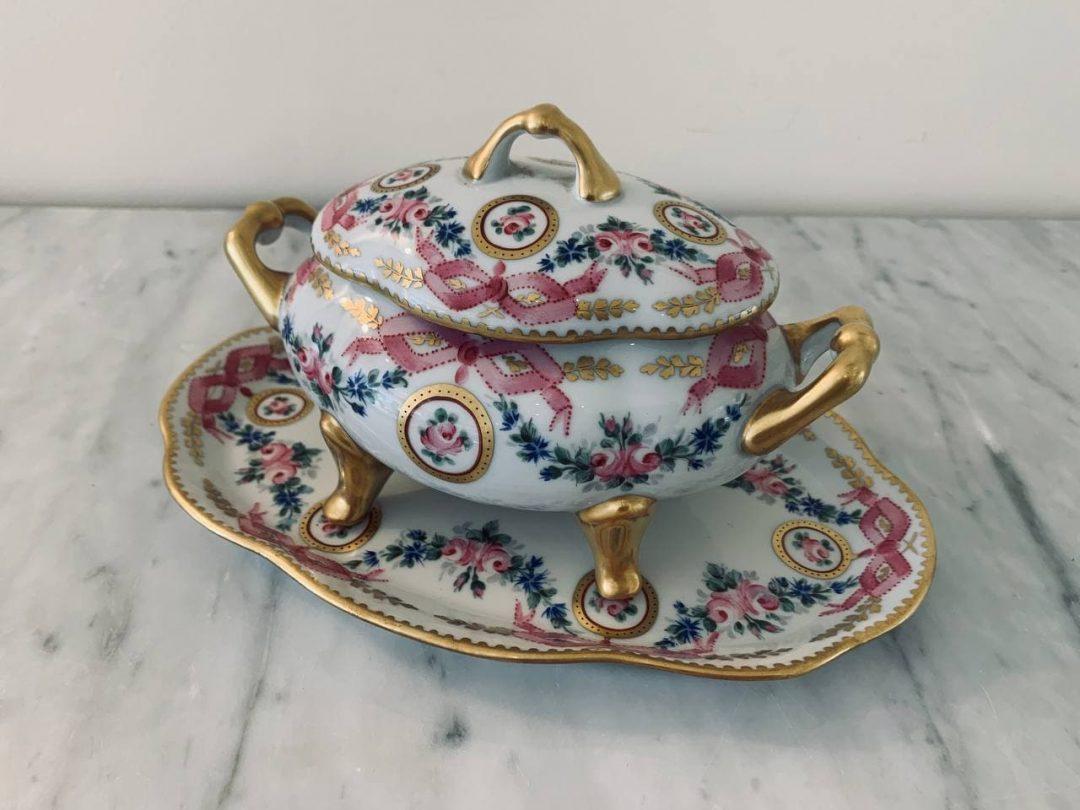 Антикварная конфетница от Limoges