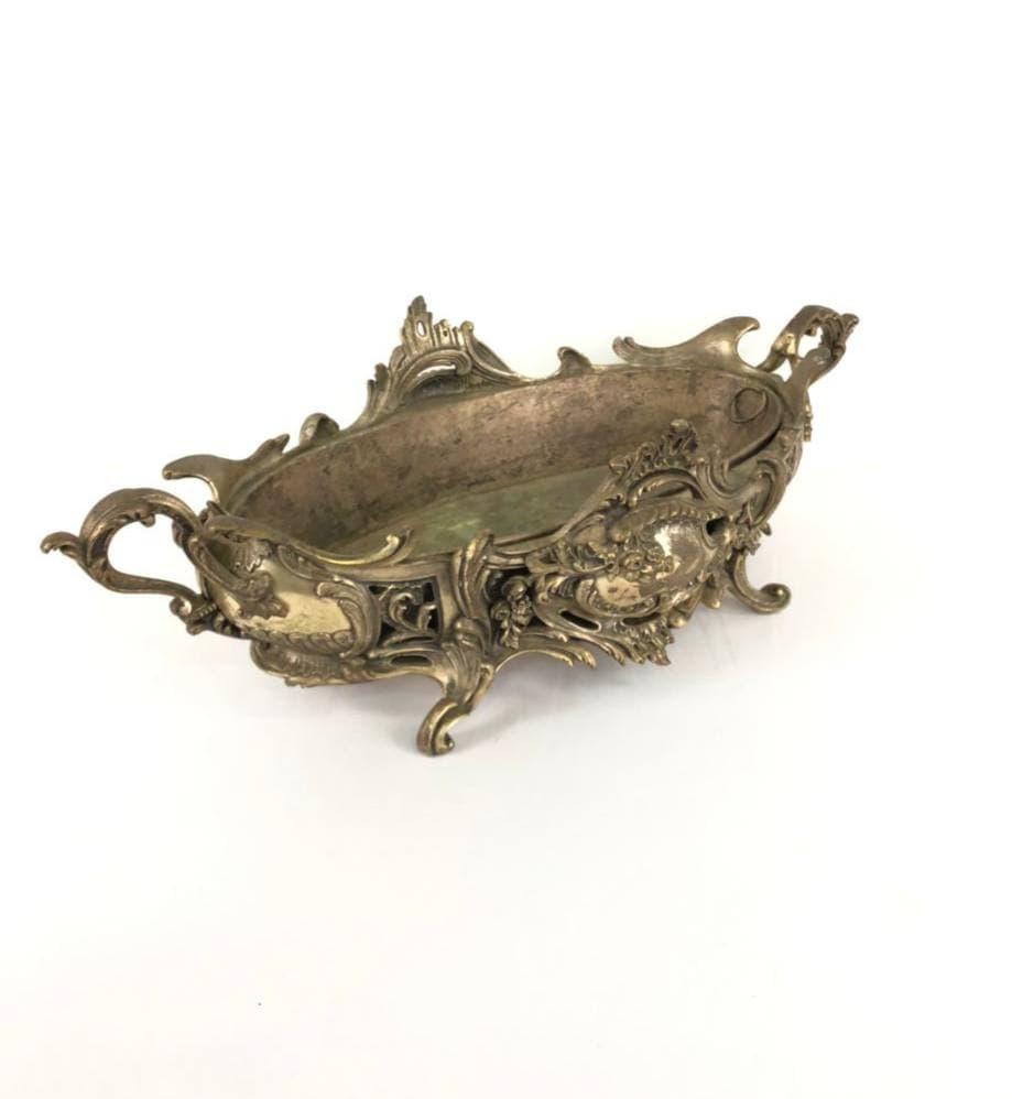 Антикварное кашпо из бронзы в стиле Рококо