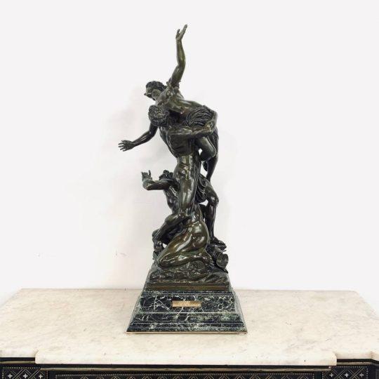Антикварная бронзовая статуя «Похищение сабинянок»