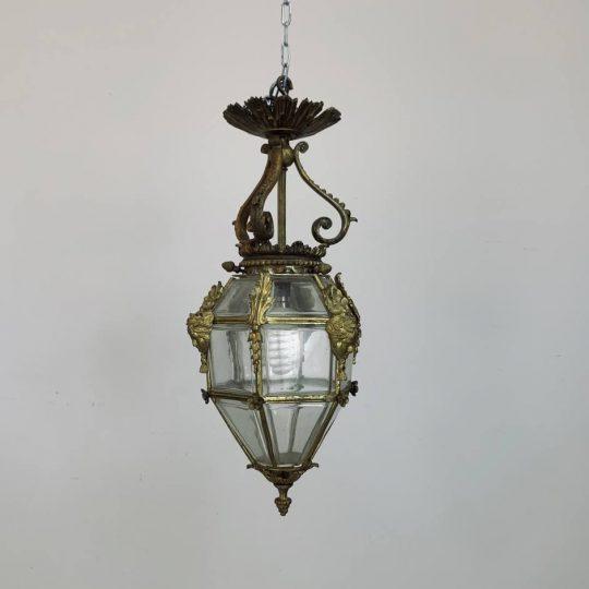 Антикварный бронзовый фонарь