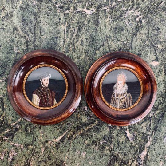 Антикварная пара миниатюр