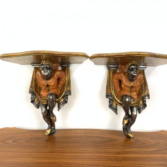 Винтажная пара консолей-мавров