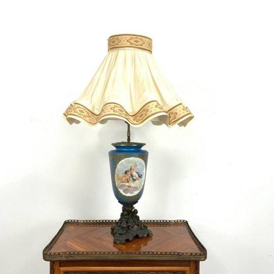 Антикварная лампа ручной росписи
